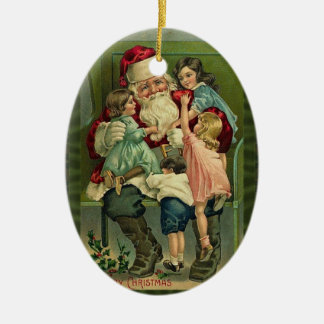 Vintage Naughty or Nice Ornament
