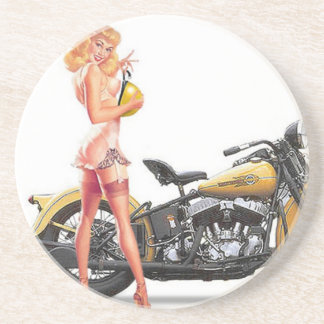 Vintage Naughty Sexie Pin Up Girl Coaster
