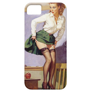 Vintage Naughty Teacher Pin Up Girl iPhone 5 Cover