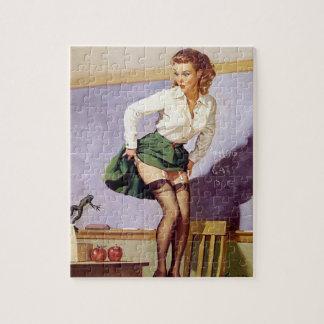 Vintage Nauhty Teacher Pin Up Puzzle