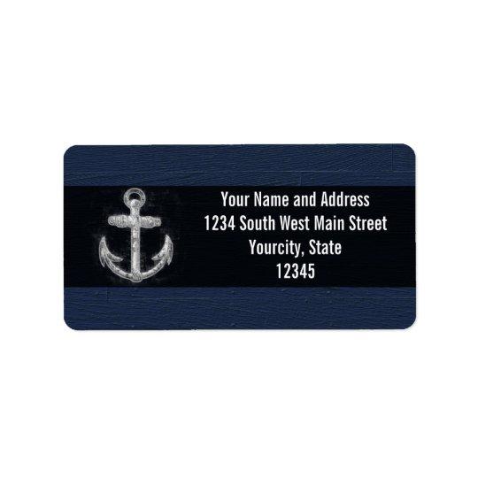 Vintage Nautical Anchor Label