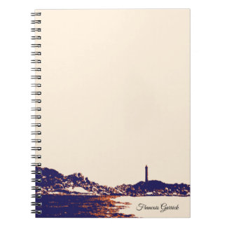 Vintage Nautical Artistic Lighthouse Notebook