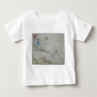 Vintage Nautical Chart Of The Caribbean Baby T-Shirt