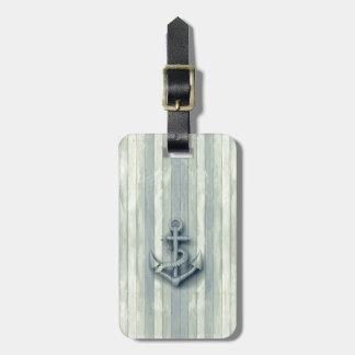 Vintage nautical classy anchor luggage tag