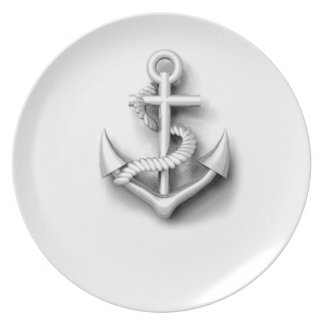 Vintage nautical classy anchor plate