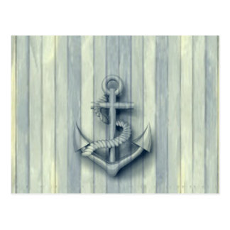 Vintage nautical classy anchor postcard