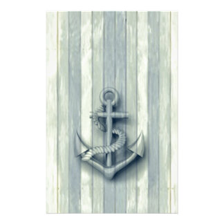 Vintage nautical classy anchor stationery
