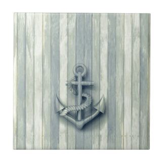 Vintage nautical classy anchor tile