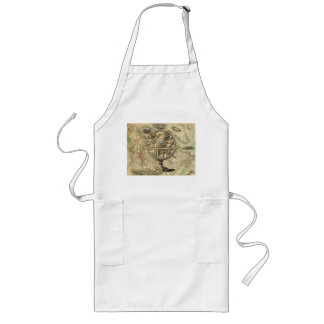 Vintage Nautical Compass and Map Long Apron