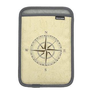 Vintage Nautical Compass Rose Ivory iPad Mini Sleeve