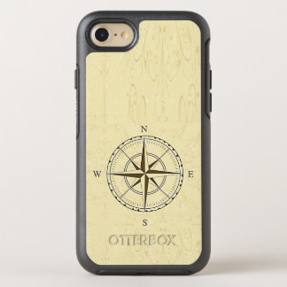 Vintage Nautical Compass Rose Ivory OtterBox Symmetry iPhone 7 Case
