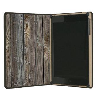 Vintage Nautical Distressed Anchor on Driftwood iPad Mini Retina Covers