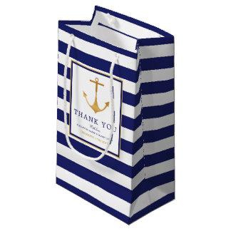 Vintage Nautical Gold Anchor Wedding Small Gift Bag