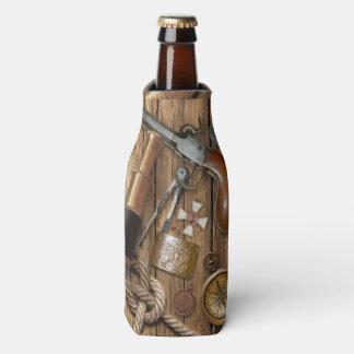 Vintage Nautical Items on Beer Bottle Cooler