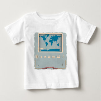 Vintage Nautical Map Products Baby T-Shirt