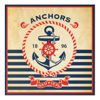 Vintage Nautical Poster Acrylic Print