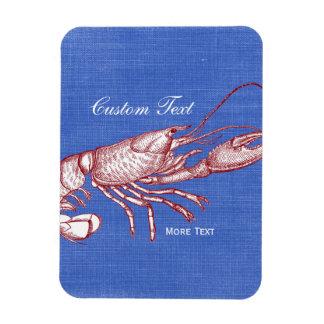 Vintage Nautical Red Lobster Custom Beach House Magnet