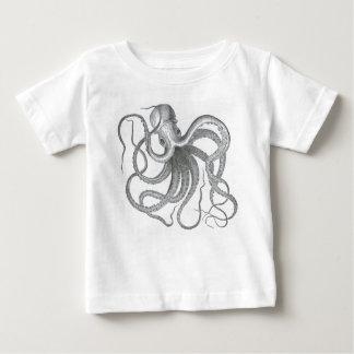 Vintage nautical steampunk octopus print tee shirts