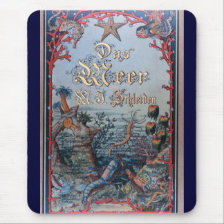Vintage nautical steampunk victorian book cover mouse pad