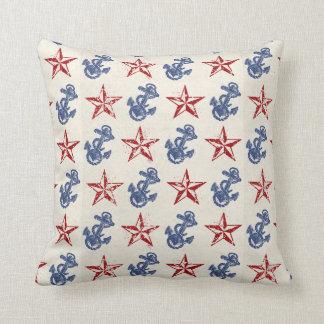 Vintage Nautical Throw Pillow