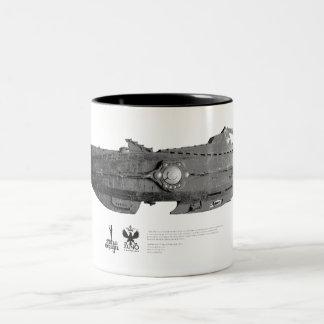 Vintage_Nautilus_01 Two-Tone Mug