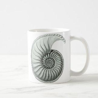 Vintage Nautilus Shell Coffee Mug