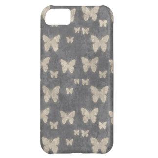 Vintage Navy Blue Butterfly Pattern iPhone 5C Case