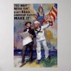 Vintage Navy Recruit Poster