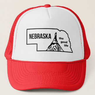 Vintage Nebraska Good Life Mudflap Hat