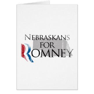 Vintage Nebraskans for Romney.png Greeting Card