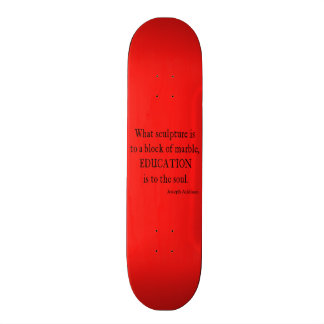 Vintage Neon Red Addison Education Soul Quote Skate Board Decks