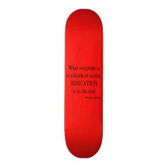 Vintage Neon Red Addison Education Soul Quote Skate Board Decks