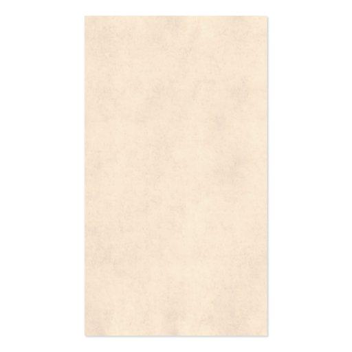 Vintage Neutral Parchment Beige Antique Paper Temp Business Cards