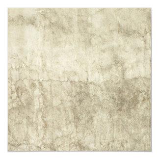 Vintage Neutral Plaster Paint Background Grunge 13 Cm X 13 Cm Square Invitation Card