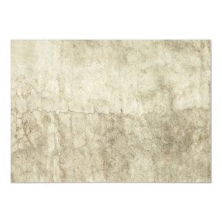 Vintage Neutral Plaster Paint Background Grunge 13 Cm X 18 Cm Invitation Card