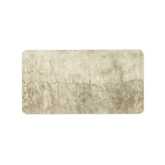 Vintage Neutral Plaster Paint Background Grunge Address Label