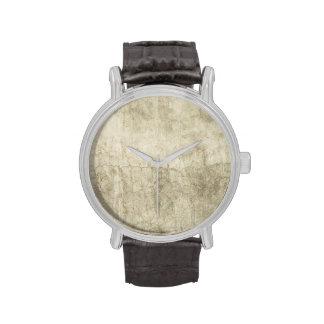 Vintage Neutral Plaster Paint Background Grunge Wristwatches