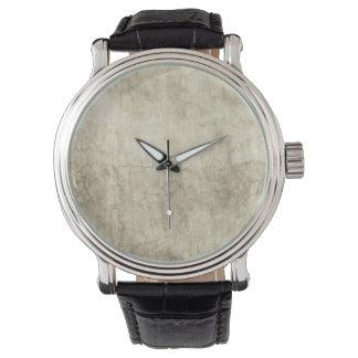 Vintage Neutral Plaster Paint Background Grunge Wristwatch
