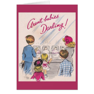 Vintage New Baby Nursery Greeting Card