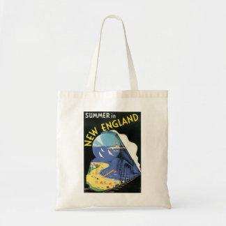 Vintage New England Travel Ad Tote Bag