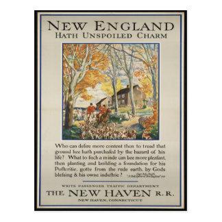 Vintage New England Travel Postcard