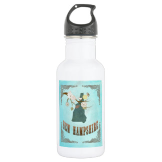 Vintage New Hampshire State Map – Aqua Blue 532 Ml Water Bottle