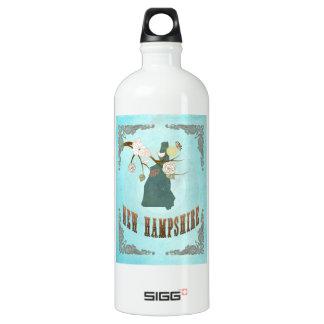 Vintage New Hampshire State Map – Aqua Blue SIGG Traveller 1.0L Water Bottle
