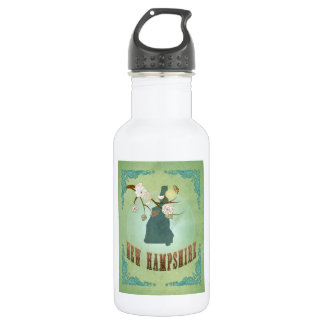 Vintage New Hampshire State Map – Sage Green 532 Ml Water Bottle