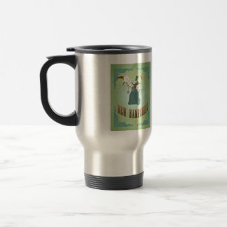 Vintage New Hampshire State Map – Sage Green Mug