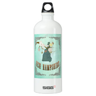 Vintage New Hampshire State Map – Turquoise Blue SIGG Traveller 1.0L Water Bottle