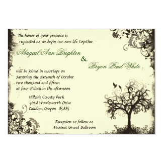 Vintage New Life Invitation in Off white