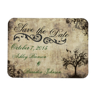 Vintage New Life Save the Date Wedding Magnet