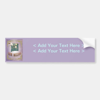 Vintage New Mexico State Map- Sweet Lavender Bumper Sticker