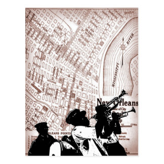 Vintage New Orleans  Map Postcard